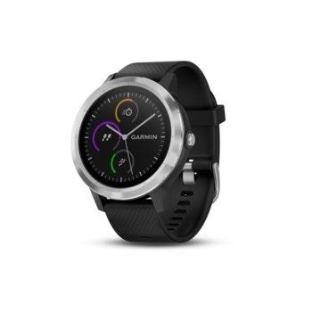 """Смарт часовник Garmin vívoactive 3, 1.2"""" (3.4 cm) дисплей, GPS, Bluetooth, до 13 часа време за работа, водоустойчив, черен image"""