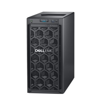 Сървър Dell PowerEdge T140 (#DELL02516), шестядрен Intel Xeon E-2146G 3.5/4.5 GHz, 8GB DDR4 UDIMM, 2x 1000GB, 2x 1GbE LOM, 2x USB 3.0, без ОС image
