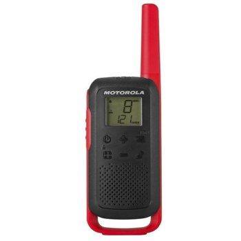 Радиостанции Motorola Talkabout T62 PMR, PMR446, 16 канала, до 8 km, лесно сдвояване, канален монитор, червени image