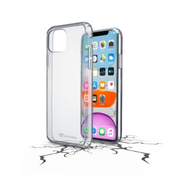 Калъф за Apple iPhone 11, гумен, Cellular Line ClearDuo, прозрачен image