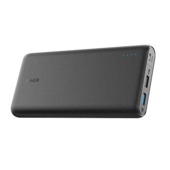 Външна батерия /power bank/ Anker PowerCore Speed, 20 000 mAh, черна, 2x USB Type A, Quick Charge 3.0, PowerIQ 2.0 image