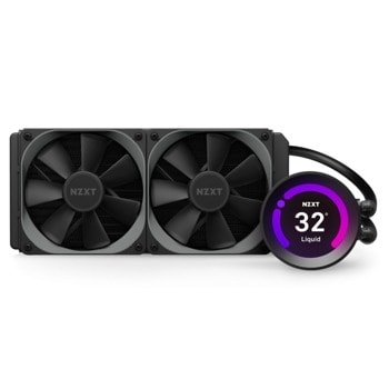 Водно охлаждане за процесор NZXT Kraken Z53 240mm (RL-KRZ53-01), съвместимост с Intel LGA 1200/1151/1150/1155/1156/1366/2011-3/2066 & AMD AM4/sTRX4/TR4 image