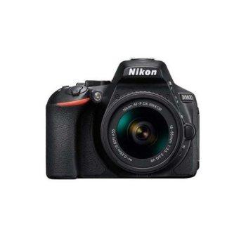 "Фотоапарат Nikon D5600 в комплект с обективи Nikon AF-P 18-55mm VR и Nikon 50mm f/1.8G, 24.2 Mpix, 3.2"" (8,1 cm) TFT дисплей, Wi-Fi, SDXC, HDMI (Type C), Bluetooth, USB image"