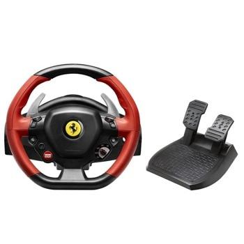 Волан Thrustmaster Ferrari 458 Spider, включва педали, черен, за Xbox One image