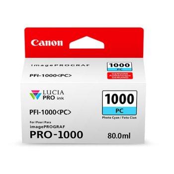 ГЛАВА ЗА Canon imagePROGRAF PRO-1000 - Photo Cyan - 0550C001AA P№ PFI-1000 - 80ml image