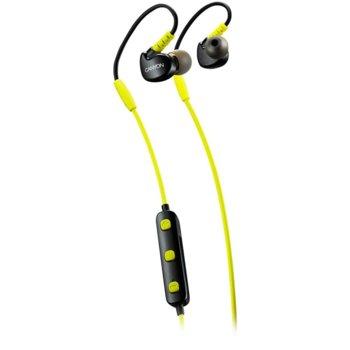 """Слушалки Canyon CNS-SBTHS1L, безжични, Bluetooth, микрофон, тип """"тапи"""", спортни, черни/зелени image"""