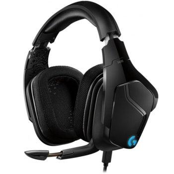 Слушалки Logitech G635, микрофон, гейминг, 7.1 Lightsync, черни image