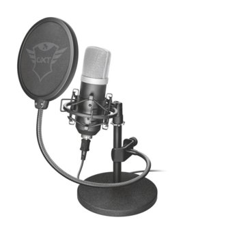 Микрофон TRUST GXT 252 Emita, 1,8м кабел, 135 dB, 18 - 21000 Hz, 16bit, 48kHz image