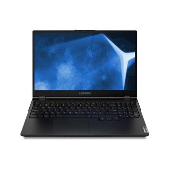 "Лаптоп Lenovo Legion 5 15IMH05 (82AU006BBM), четириядрен Comet Lake Intel Core i5-10300H 2.5/4.5 GHz, 15.6"" (39.62 cm) Full HD IPS 120Hz Display & GTX 1650 4GB, (HDMI), 8GB DDR4, 512GB SSD, 1x USB 3.1 Type-C, No OS  image"
