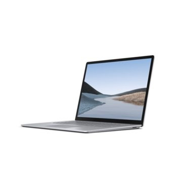 "Лаптоп Microsoft Surface Laptop 3 (V4C-00008)(сребрист), четириядрен Ice Lake Intel Core i5-1035G7 1.2/3.7 GHz, 13.5"" (34.29 cm) WQHD Multi-Touch Glare Display, (USB C), 8GB LPDDR4, 256GB SSD, Windows 10 Home image"
