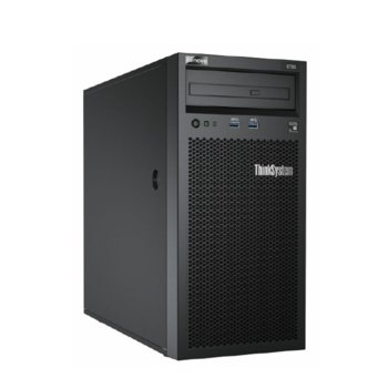 Сървър Lenovo ThinkSystem ST50 (7Y48A006EA), четириядрен Coffee Lake Intel Xeon E-2124G 3.4/4.5 GHz, 8GB UDIMM DDR4, 2x 1TB HDD, 1x 1GbE, без ОС, 1x 250W Platinum image