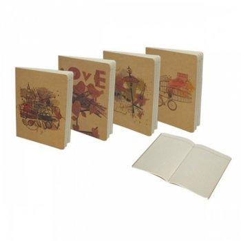 Тетрадка Spree Kraft-2, формат А5, слонова кост хартия, 50 листа, шита image