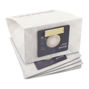 Торбички за прахосмукачка Gorenje GB2MBUP, за модели VCEB23TRS/VCEE21PRBK/VCEC21PWBK/VCEA21SBKR, 4бр image