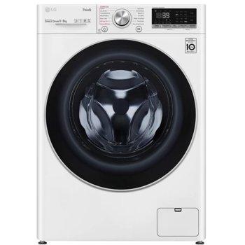 Пералня със сушилня LG F4DV709S1E, A, 9 кг. капацитет пералня/6 кг. капацитет сушилня, 1400 оборота в мин, 14 програми на пране, свободностояща, 60сm ширина, TurboWash 360, AI DD, LG ThinQ, бяла image