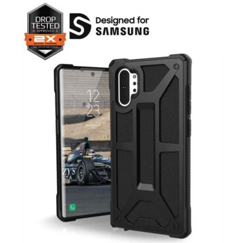 Калъф за Samsung Galaxy Note 10, хибриден, Urban Armor Monarch 211741114040, удароустойчив, черен image