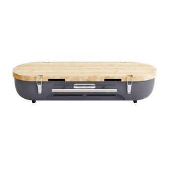 Настолно барбекю Allocacoc FlipGrill BBQ 11096GY, бамбук, 610мм x 210мм x 100мм, сив image
