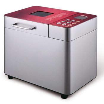 Хлебопекарна Finlux FBM-1684IX RED, 550W, 25 пpoгpaми, 15 часа отложен старт, вмecтимocт до 1000g, червена image