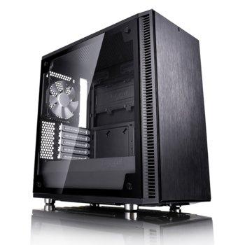 Кутия Fractal Design Define Mini C TG, mATX/ITX, прозорец, черна, без захранване image