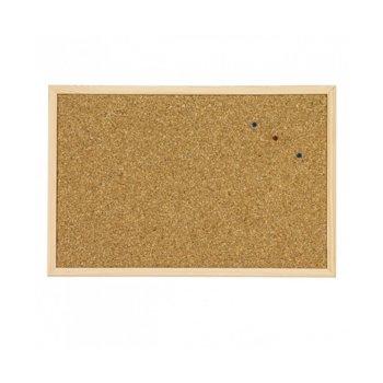 Коркова дъска, с дървена рамка, размер 300x400 mm, кафява image