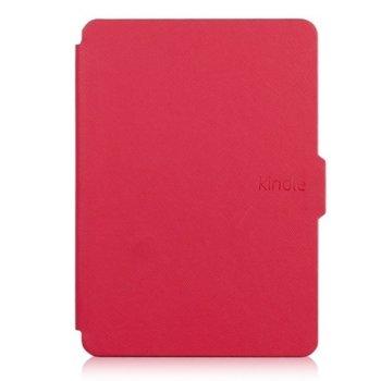 Калъф за електронна книга с подарък протектор за екрани и стилус, за Kindle 2019, червен image