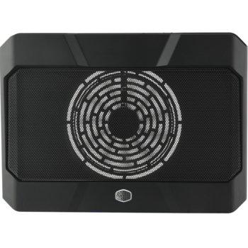 """Охлаждаща поставка за лаптоп CoolerMaster NotePal X150R, за лаптопи до 17"""" (43.18 cm), 3x USB A 2.0, 1x USB Type C, подсветка, черна image"""