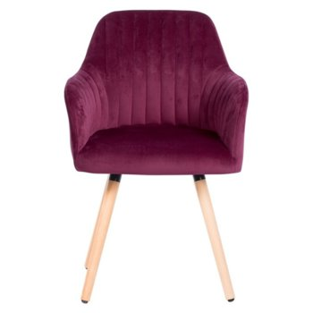 Трапезен стол Carmen 9970, дамазка, виолетов image
