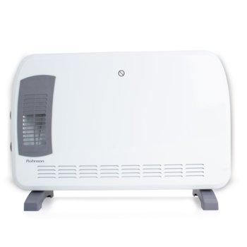 Конвектор Rohnson R 014, свободностоящ, 3 настройки за отопление, функция TURBO, регулируем термостат, защита от прегряване, 2000W, бял image