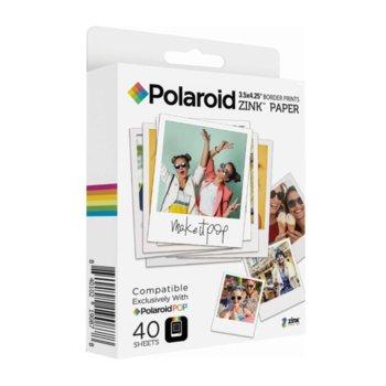 Фотохартия Polaroid Zink Media, 8.9 x 10,8 cm., 40 листа image