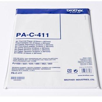 Термо хартия Brother PA-C-411, за PJ серия мобилни принтери, A4, 100л. image