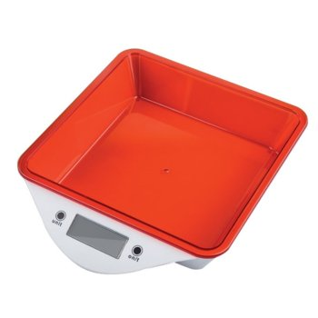 Кухненски кантар Zephyr ZP 1651 LS, дигитален, до 5kg., точност до 1гр, LCD дисплей, aвтоматично изключване, индикатор за претоварване, червен image