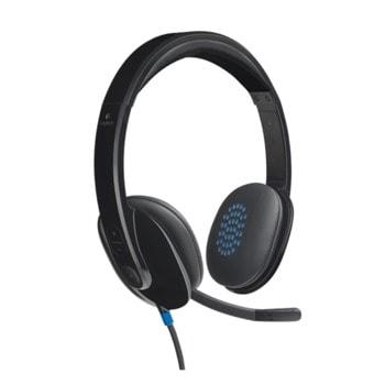 Слушалки Logitech H540, USB, черни image