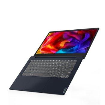 "Лаптоп Lenovo IdeaPad UltraSlim S340 (81VV00GFBM)(син), двуядрен Ice Lake Intel Core i3-1005G1 1.2/3.4 GHz, 14"" (35.56 cm) Full HD IPS Anti-Glare Display, (HDMI), 8GB DDR4, 512GB SSD, 1x USB 3.1 Type C, Free DOS image"