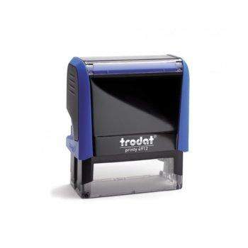 Автоматичен печат Trodat 4912 син, 18/47 mm, правоъгълен image