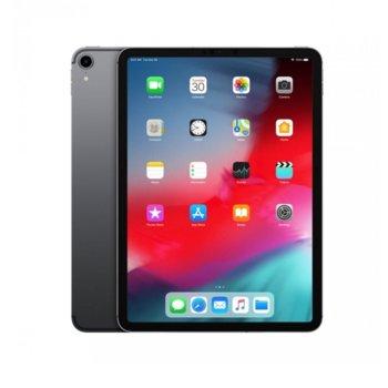 """Таблет Apple iPad Pro (2018)(MU0M2HC/A)(сив), LTE, 11"""" (27.94 cm) Liquid Retina дисплей, осемядрен A12X Bionic, 4GB RAM, 64GB Flash памет, 12.0 & 7.0MPix камера, iOS 12, 468g image"""