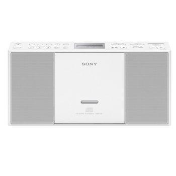 CD радиокасетофон Sony ZS-PE60, 2.0, MP3, WMA, USB, бял image