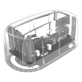 Докинг станция Orico 6139U3-EU-CR-PRO за 2.5/3.5 inch SATA 3.0, USB 3.0, прозрачна image