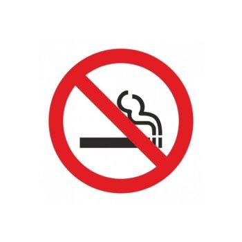 """Самозалепващ знак """"Пушенето забранено"""", с два начина на залепване image"""
