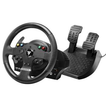 Волан с педали Thrustmaster TMX Force Feedback, 12x бутона, вградена памет и фърмуер с опция за ъпгрейд, за PC/Xbox One image