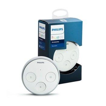 Ключ за управление Philips HUE Tap, безжична инсталация, работи без батерии, бял image