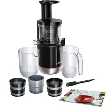 Сокоизтисквачка Bosch MESM731M, Juicer, 1 скорост, 1.3 л кана за пулп, изключително лесна за сглобяване и съхранение, 150W, черна image