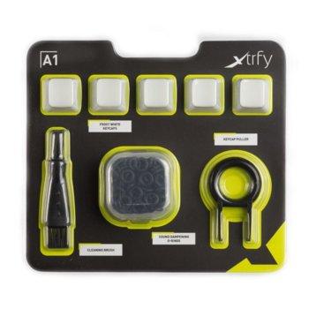 Комплект за механични клавиатури XTRFY A1 капачки, четка за почистване, О-Rings и уред за вадене на механични копчета image