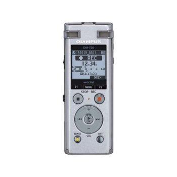 Диктофон Olympus DM-720, 4GB, microSD, USB, черен image