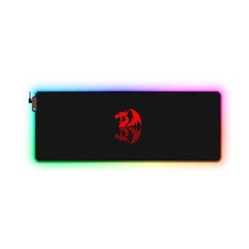 Подложка за мишка Redragon Neptune P027-BK, гейминг, RGB подсветка, 800х300х3 мм image