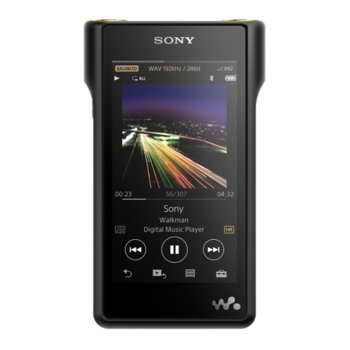 "MP4 Плейър Sony NW-WM1A Red, 128GB memory, 4"" FWVGA TFT color video display, NFC & Bluetooth image"