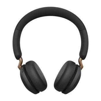 Слушалки Jabra Elite 45h (100-91800002-60), безжични, микрофон, Bluetooth, USB, до 50 часа време на работа, черни image