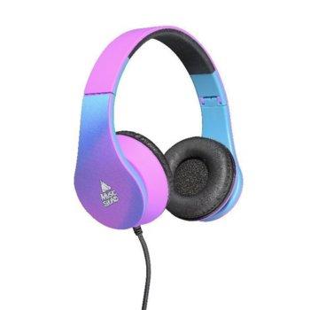 Слушалки Music Sound Violet, 20-20,000Hz, 3.5мм жак, сгъваеми, син/розов image