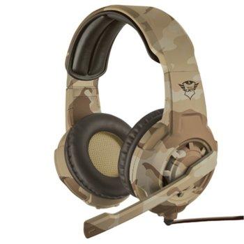 Слушалки Trust GXT 310D Radius, микрофон, кафяви image