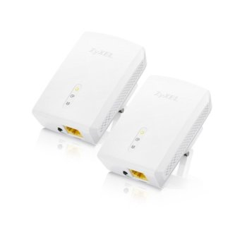 ZyXEL PLA5405, 1200 Mbps, Powerline Ethernet адаптер, TWIN PACK image