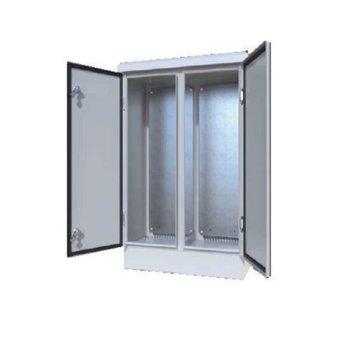 Комуникационен шкаф Security Professionals MR.IP658010040CK.03, 800 x 1000 x 400, стенен монтаж, ванадалоустойчивост IK10, корозоустойчив, двукрилна врата, сив image
