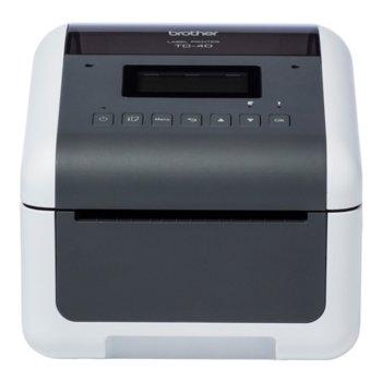 Етикетен принтер Brother TD-4550DNWB, Резолюция (300 x 300), 64MB Flash, 256MB SDRAM, професионален, USB 2.0, Bluetooth, Wi-Fi, Ethernet LAN image